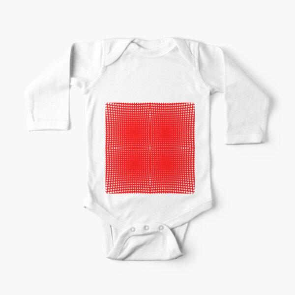 Trippy Pattern Long Sleeve Baby One-Piece