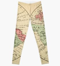 Vintage Map of The World's Religions (1883) Leggings