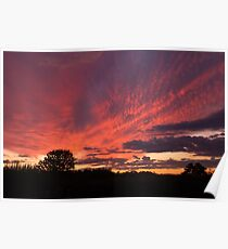 Red Sky Sunset Poster