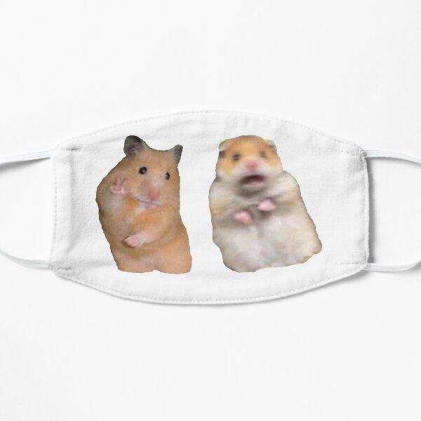 Signe de paix et hamster hurlant Masque sans plis