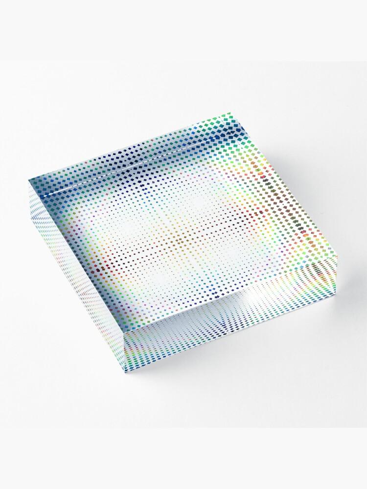 Alternate view of Trippy Pattern Acrylic Block