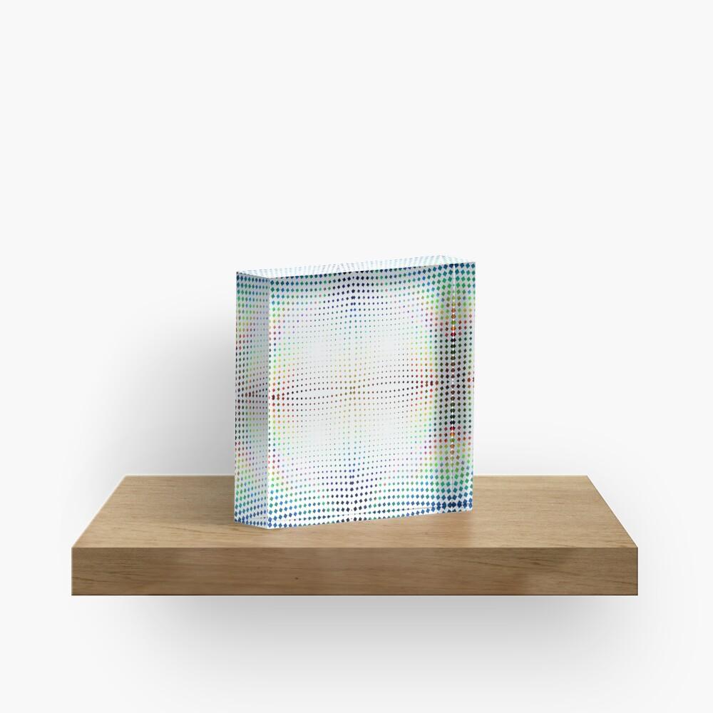 Trippy Pattern Acrylic Block