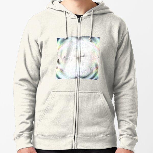 Trippy Pattern Zipped Hoodie