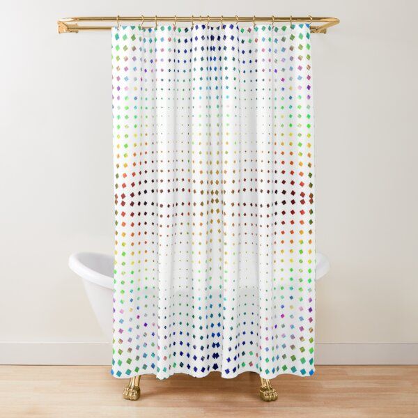Trippy Pattern Shower Curtain