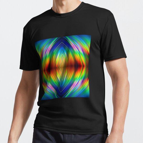 Trippy Pattern Active T-Shirt