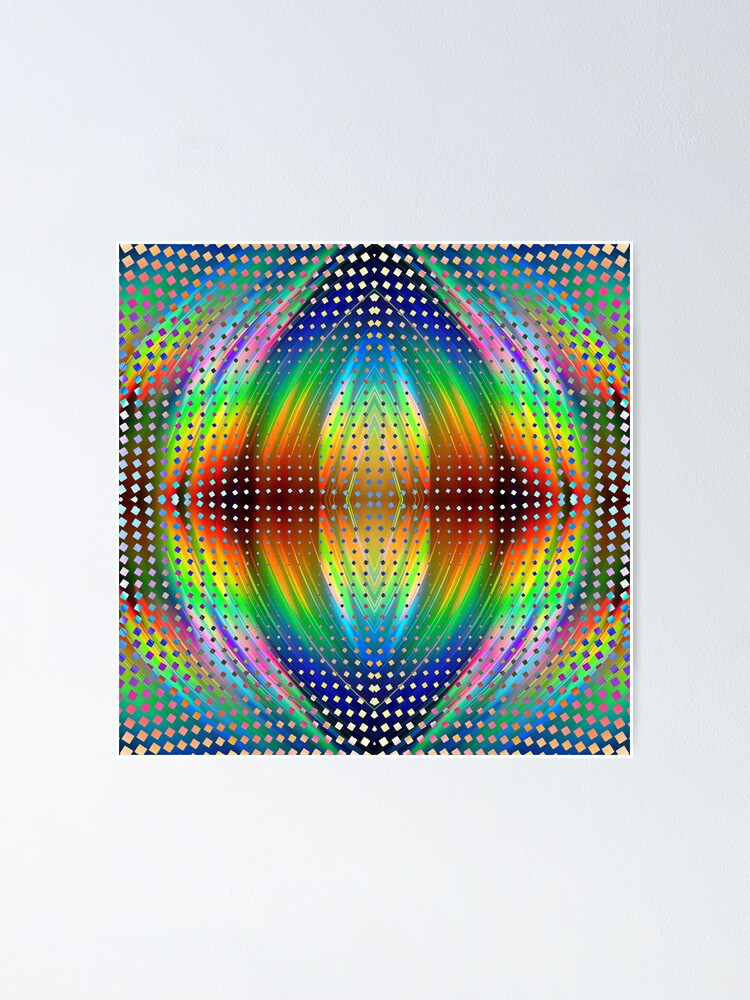 Alternate view of Trippy Pattern Poster
