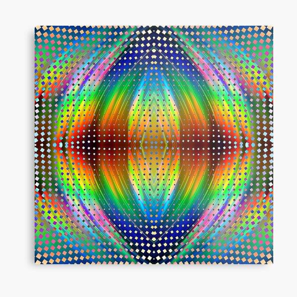 Trippy Pattern Metal Print