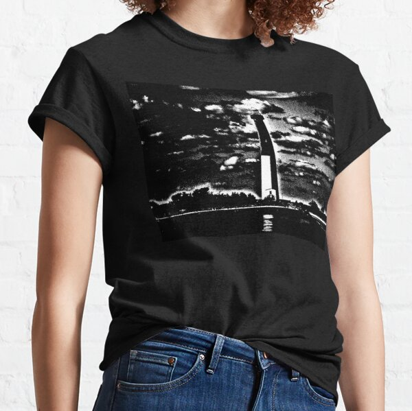 Old Barney - Barnegat Lighthouse New Jersey in Black and White Classic T-Shirt