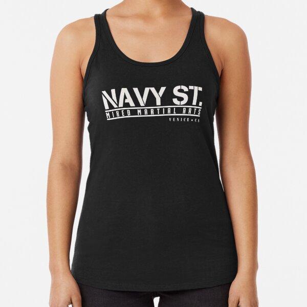Kingdom Navy St. White Logo Tshirts etc Racerback Tank Top