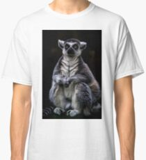 Portrait Of A Ring Tailed Lemur Classic T-Shirt
