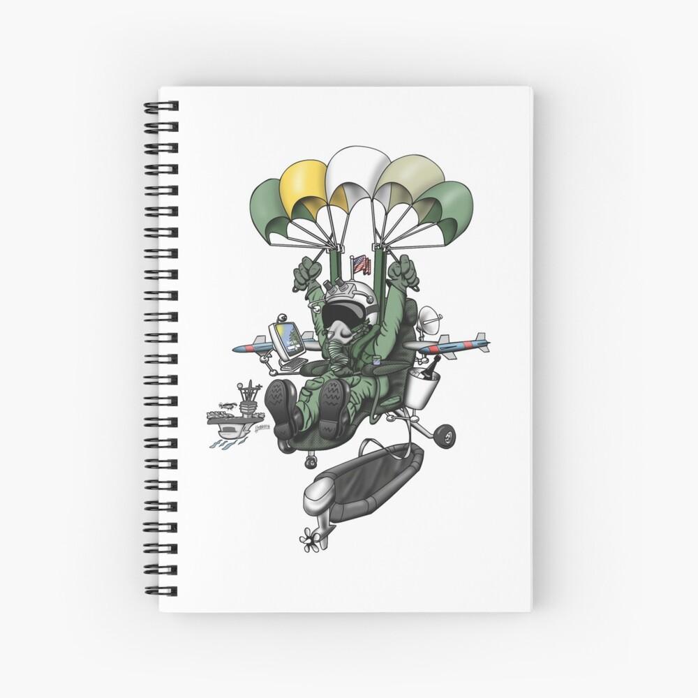 Naval Aviation Life Support Systems (ALSS) Parachute Rigger Cartoon Spiral Notebook