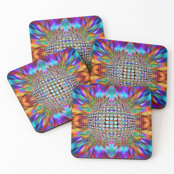 Trippy Pattern Coasters (Set of 4)