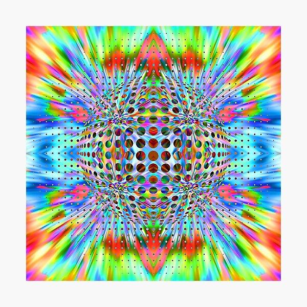 Trippy Pattern Photographic Print