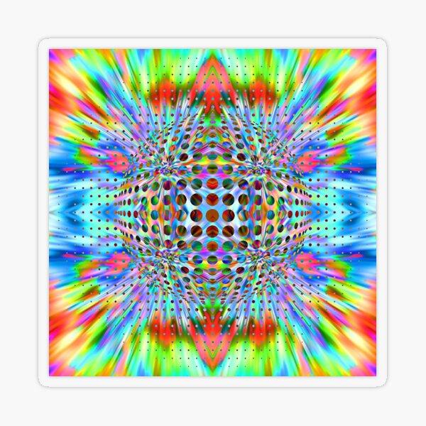 Trippy Pattern Transparent Sticker