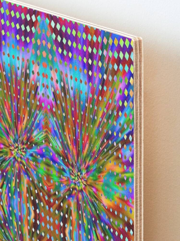 Alternate view of Trippy Pattern Mounted Print