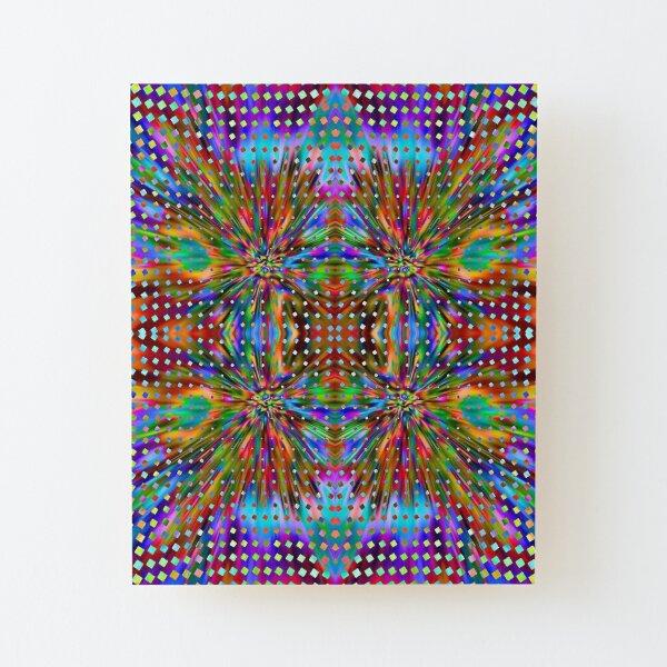 Trippy Pattern Wood Mounted Print
