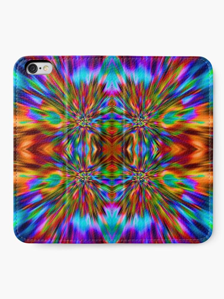 Alternate view of Trippy Pattern iPhone Wallet