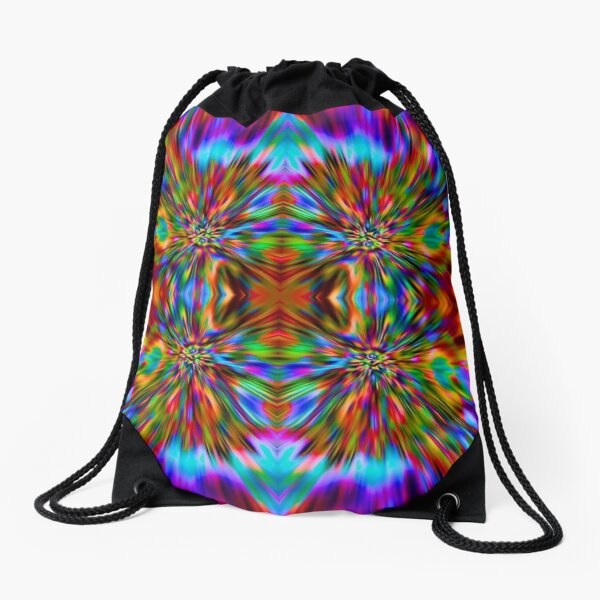 Trippy Pattern Drawstring Bag