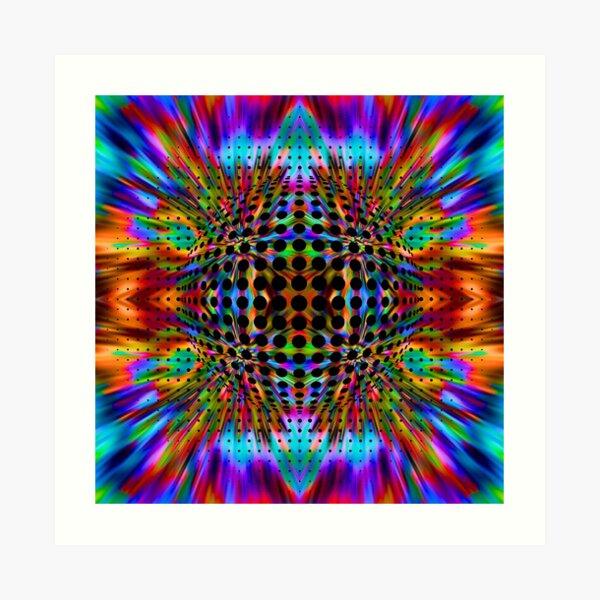 Trippy Pattern Art Print