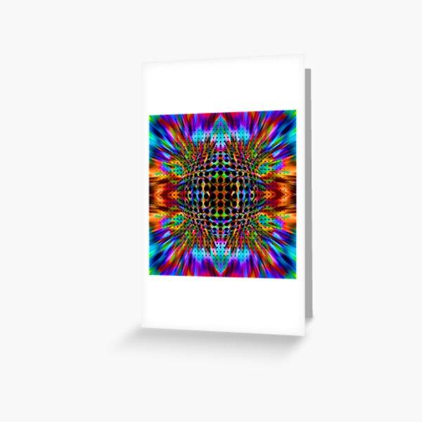 Trippy Pattern Greeting Card