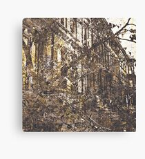 Autumn in Brooklyn modern abstract painting art design Canvas Print
