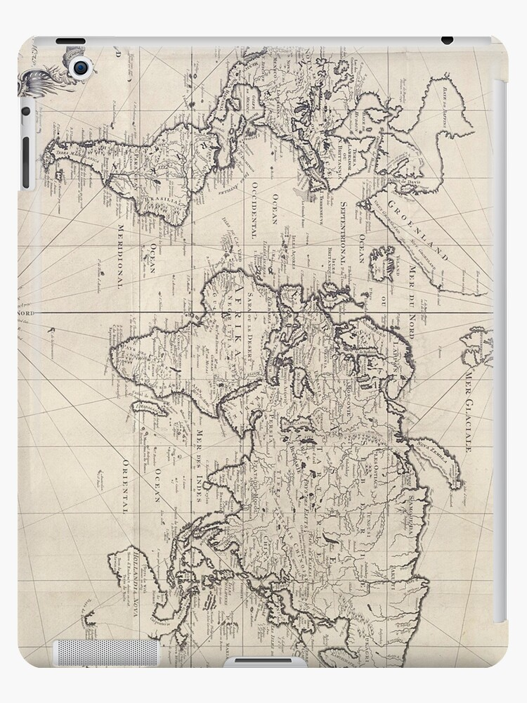 Vintage Map Of The World 1750 Ipad Cases Skins By Bravuramedia