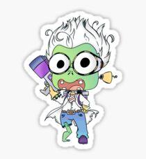 Scientist Zombie Sticker Sticker
