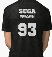 BTS - Suga Jersey Style Tri-blend T-Shirt