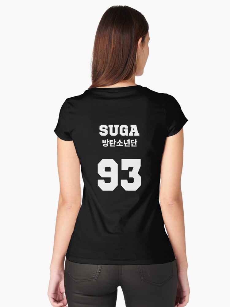 Quot Bts Suga Jersey Style Quot Women S Fitted Scoop T Shirts By