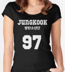 Camiseta entallada de cuello redondo BTS - Jungkook Jersey Style