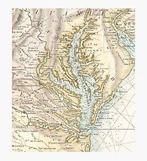 Vintage Map of The Chesapeake Bay (1778) 2 Photographic Print