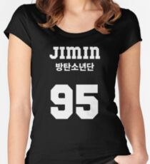 BTS - Jimin Jersey Style Women's Fitted Scoop T-Shirt