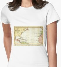Vintage Christopher Columbus Voyage Map (1828) T-Shirt