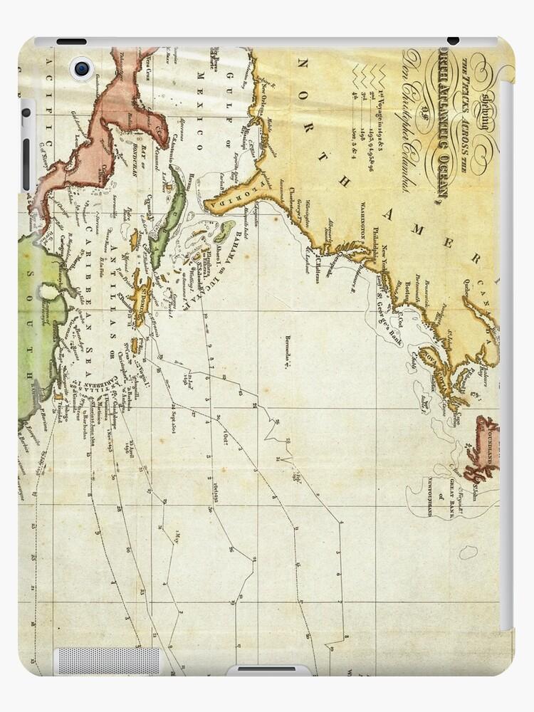 Vintage Christopher Columbus Voyage Map (1828)