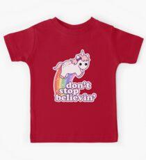 Don't Stop Believin' in Unicorns Kids Tee