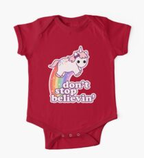 Don't Stop Believin' in Unicorns One Piece - Short Sleeve