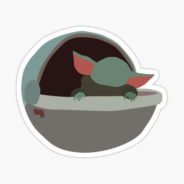 Grogu in stroller Sticker