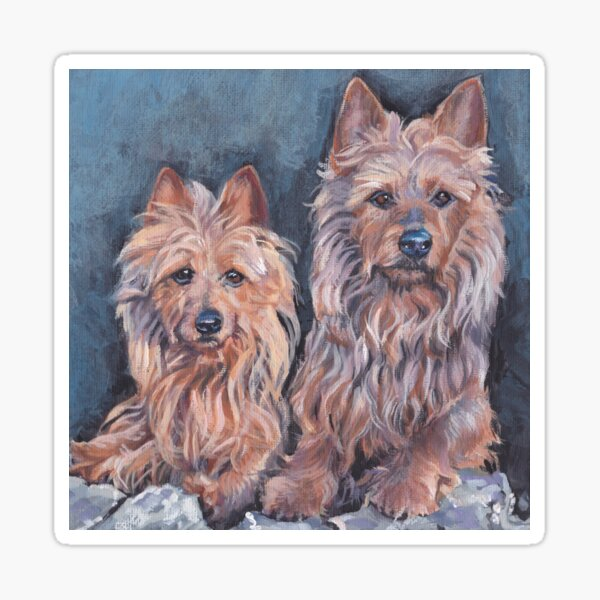 australian Terrier Fine Art Painting Sticker