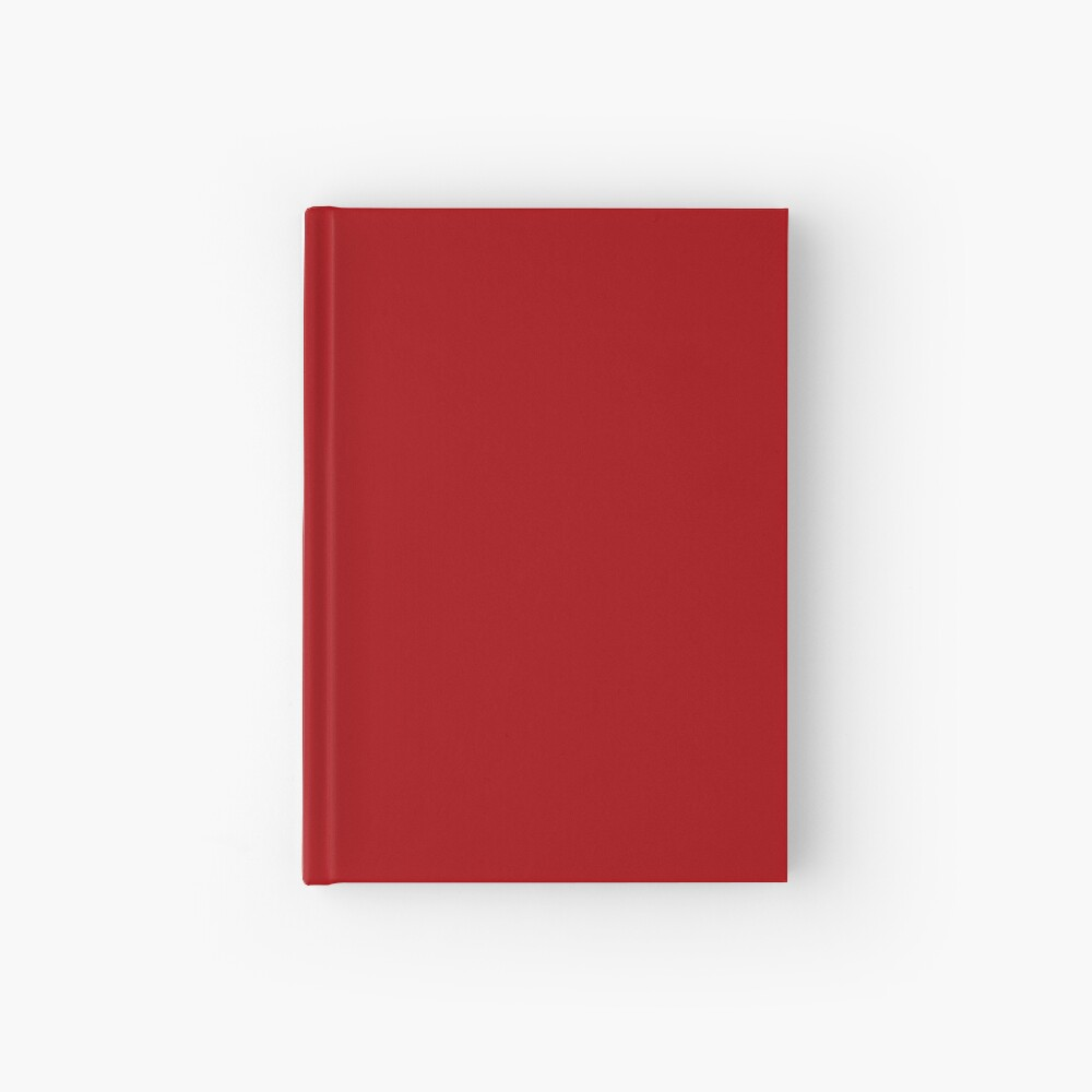 Bright Red Hardcover Journal