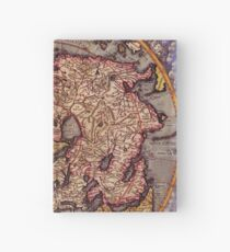 Vintage Map of The World's Northern Hemisphere Hardcover Journal