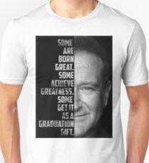 Robin Williams Text Portrait Unisex T-Shirt