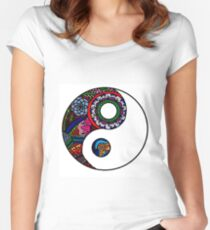 YingYang  Women's Fitted Scoop T-Shirt