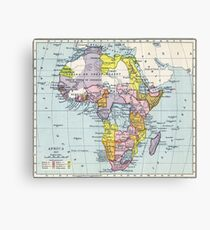 Vintage Map of Africa (1897) Canvas Print