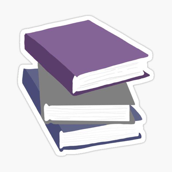 Stack of books Sticker