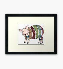 Smart pig Framed Print