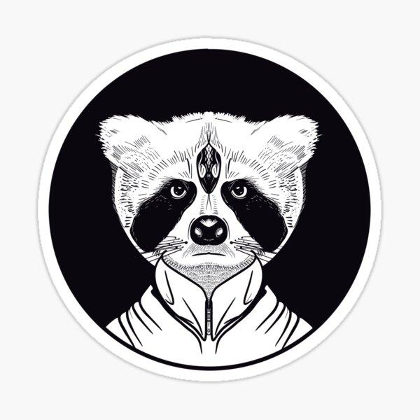 Rakun Man Sticker