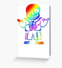 under tale color Greeting Card