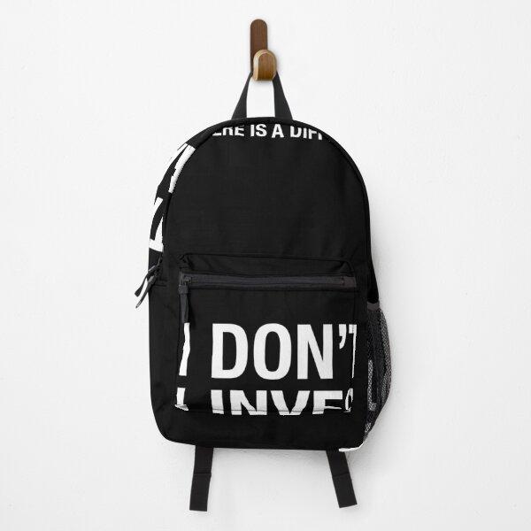 I don't Stalk I Investigate, Funny Relationship quote Backpack