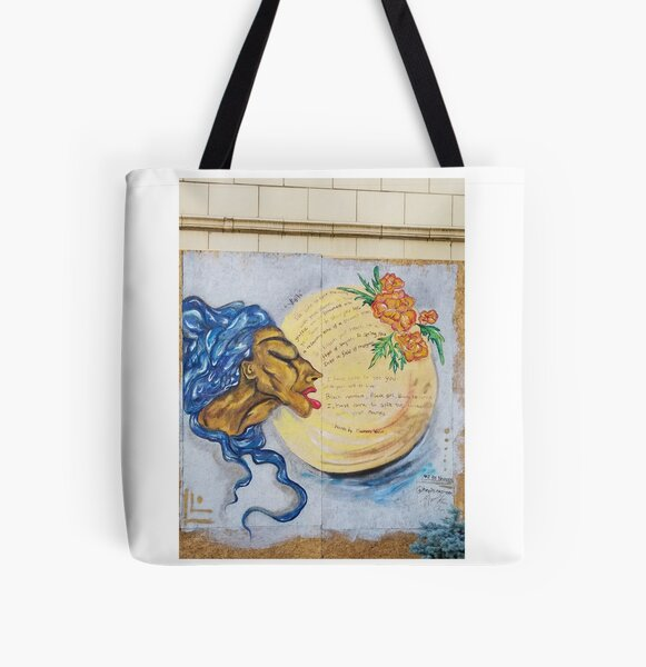 Breathe All Over Print Tote Bag