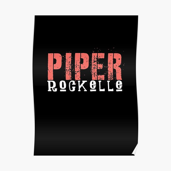 Cute colorful piper rockelle typography Poster